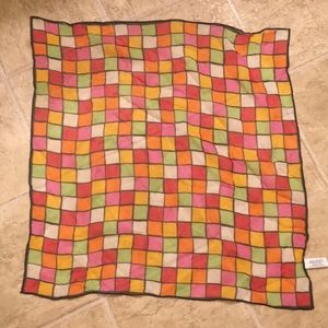Echo 18 inch silk chiffon scarf small color blocks